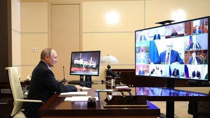 Видео: совещание Владимира Путина счленами Правительства 31 марта 2021 года