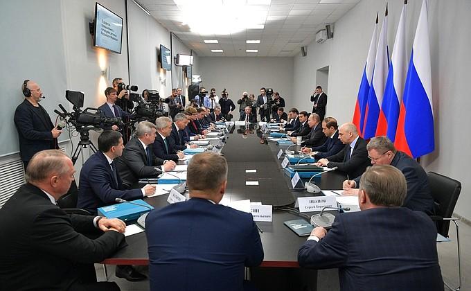 Заседание президиума Госсовета повопросу развития промышленного потенциала регионов