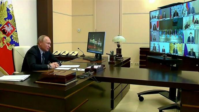 Видео совещания Путина повопросам развития информационно-коммуникационных технологий исвязи 10 июн