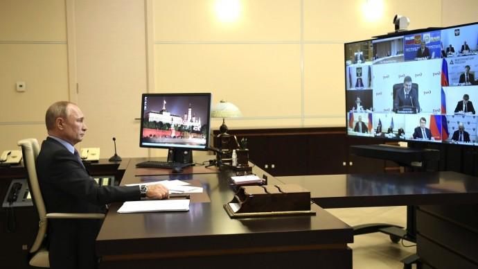 Видео совещания Путина повопросам развития транспортной отрасли 7 мая 2020 года